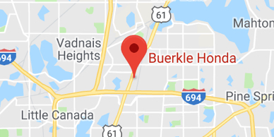 Map of St. Paul, MN Showing Location of Buerkle Honda