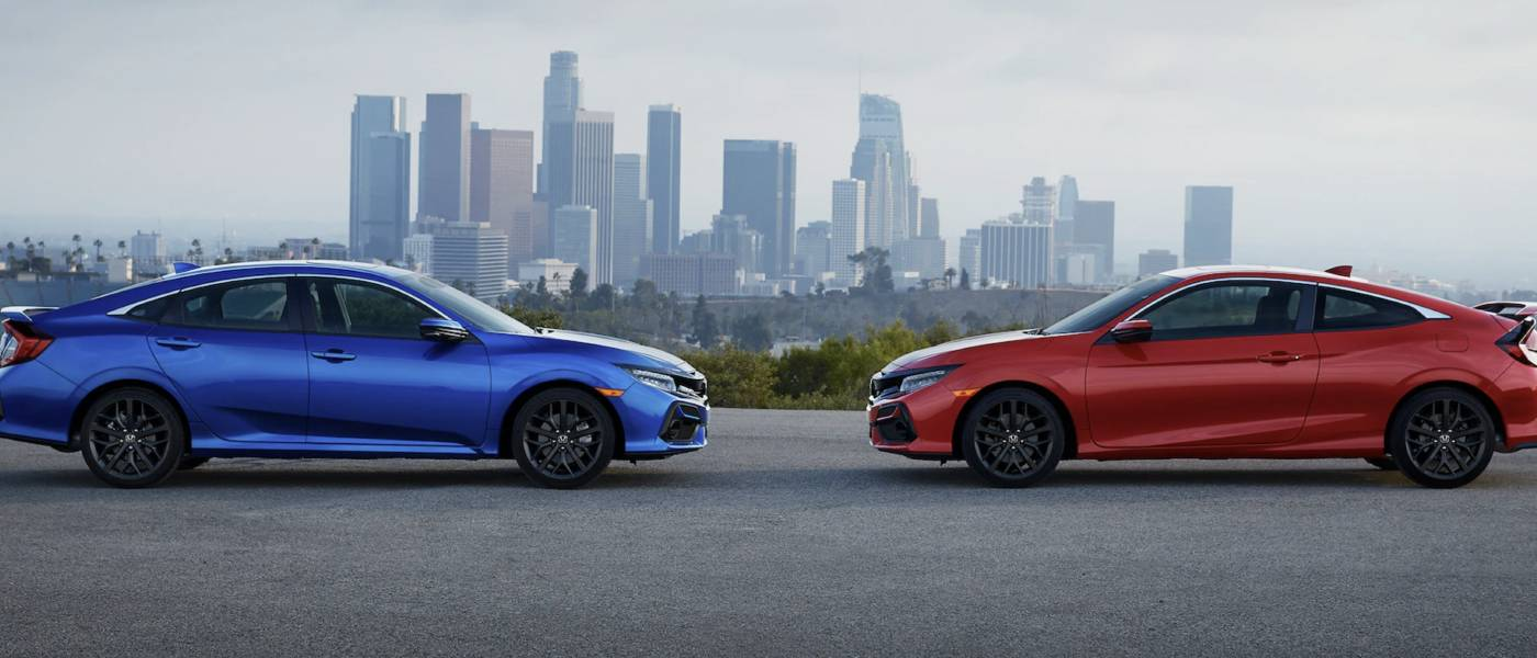 2020 Honda Civic Si Coupe Sedans Blue and Red